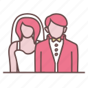 bride, celebration, couple, engagement, groom, marriage, wedding icon