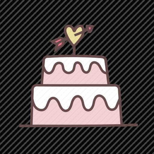 cake, celebration, decoration, gift, love, party, wedding icon