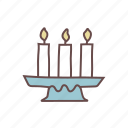 burning, candle, candles, decoration, fire, flame, light icon