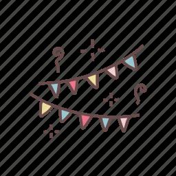 birthday, celebration, christmas, decoration, new, party, year icon