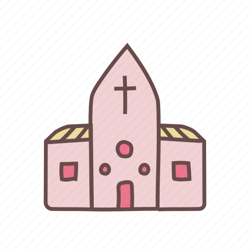 building, chapel, christian, church, religious, venue, wedding icon