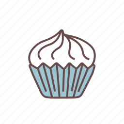 bakery, birthday, celebration, cupcake, food, muffin, pastry icon