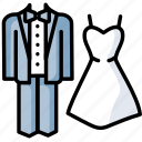 couple, love, romance, wedding icon
