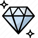 diamond, love, romance, wedding icon