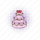 cake, celebration, comics, couple, love, wedding, wedding cake icon