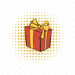 birthday, bow, box, gift, gift box, package, present icon