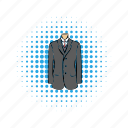 businessman, comics, jacket, shirt, suit, tie, wedding icon