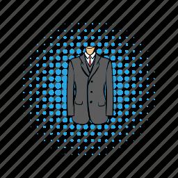 businessman, comics, jacket, shirt, suit, tie, wedding icon