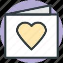 greeting card, heart, love, valentine card, valentine greeting icon