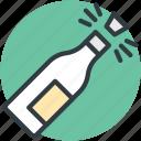 alcohol, celebration theme, party, popping cork, splashing champagne icon