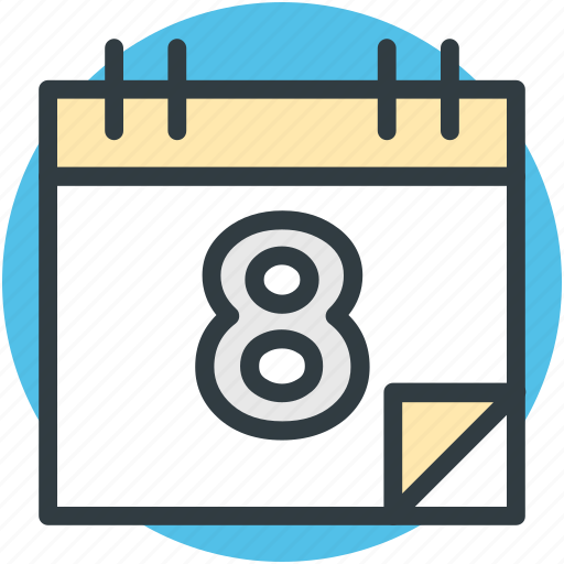 calendar, date, day, event, timeframe, yearbook icon