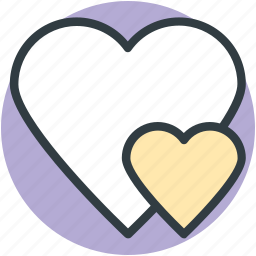 affection, love, love hearts, lovers, together, two hearts, valentine icon