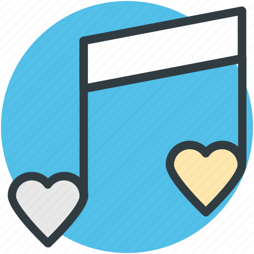 classical music, heart, instrument, love song, melody, musical note, romantic music icon