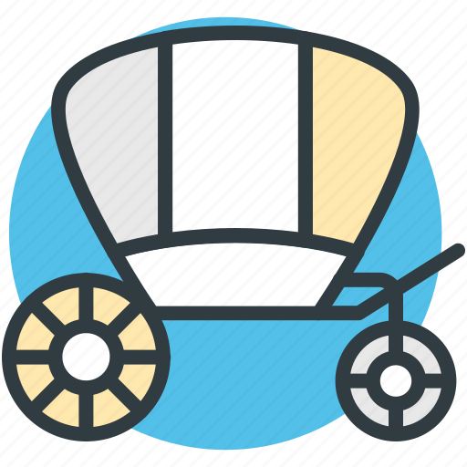 carriage, horse carriage, traditional wedding, wedding carriage, wedding cart icon