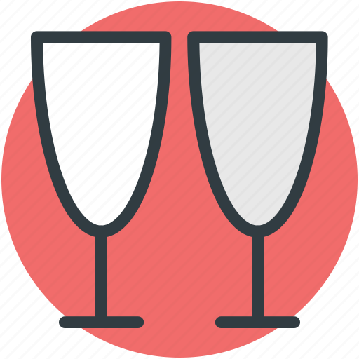 champagne toasting, cheers, drink, pleases, two glasses icon