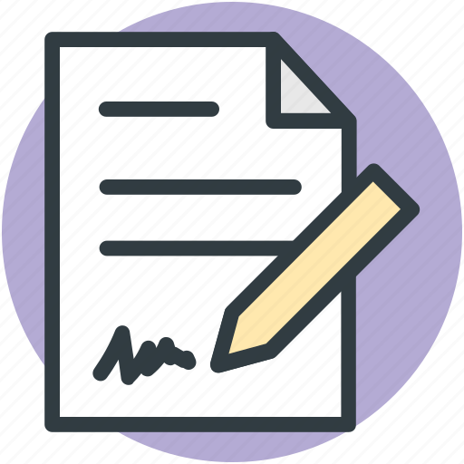 pen and paper, signature, write, writing, writing concept icon