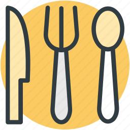 cutlery, fork, kitchen, knife, spoon icon