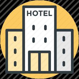 hotel, hotel building, inn, public house, travel icon
