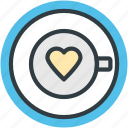 heart teacup, love theme, passion, saucer, tea, tea love, valentine day icon