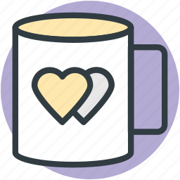 coffee, feelings, friendship, heart symbol, in love, sentimental, valentine day icon