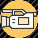 camcorder, device, handy cam, video camera, video recording icon