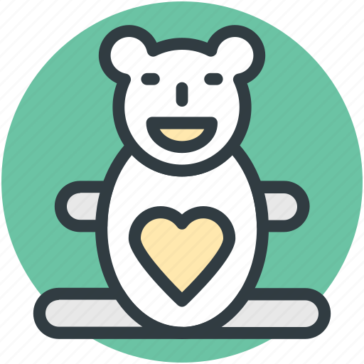animal, heart sign, love teddy, teddy, teddy bear, teddy bear gift, toy teddy icon