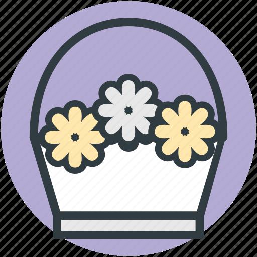 beautiful bouquet, flower hamper, flowers basket, gift basket, gift hamper icon
