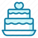 wedding, cake, sweet, dessert, food, bakery