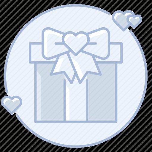 bow, gift, love, marriage, present, ribbon, wedding gift, wedding present icon