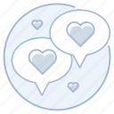 chat, marriage, promise, talk, vows, wedding icon