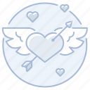 arrow, cupid, heart, love, marriage, wedding, winged