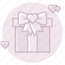 bow, gift, marriage, present, ribbon, wedding gift, wedding present icon