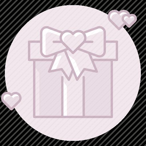 bow, gift, marriage, present, ribbon, wedding gift, wedding present icon