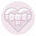 bow, heart, love, marriage, ribbon, wedding icon