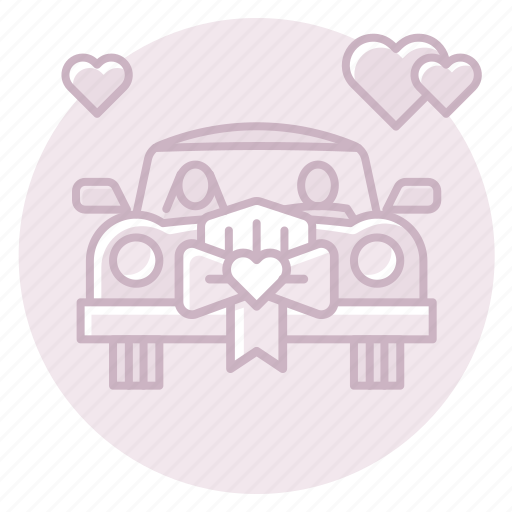 antique car, car, classic car, just married icon