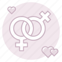 female, gay, homosexual, lesiban, marriage, marriage equality, same-sex marriage icon