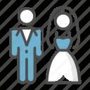 bride, couples, marriage, wedding