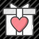 box, gift, love, package, wedding