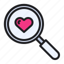 find, love, magnifier, romance, search, wedding, zoom