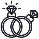 diamond, engagement, love, marriage, rings, romance, wedding icon