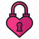heart, lock, love, private, romance, valentine, wedding