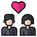 couple, girl, love, man, romance, talk, wedding icon