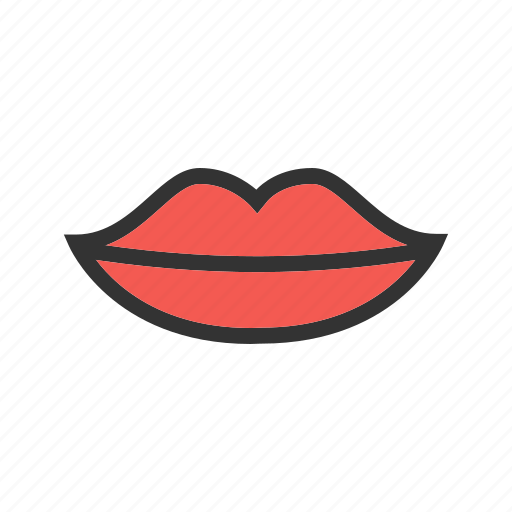 beauty, body, kiss, lips, lipstick, makeup, red icon