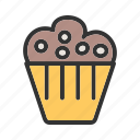 baked, birthday, cake, cupcake, cupcakes, home, sprinkles icon