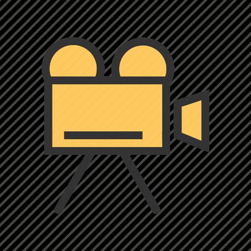camcorder, camera, digital, lens, media, production, video icon