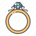 diamond, jewel, jewelry, luxury, ring, romance, wedding icon