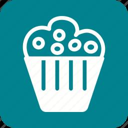 baked, birthday, cake, cupcake, cupcakes, home, sprinkles icon