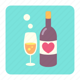 anniversary, couple, dating, dating drink, drink, love, romantic icon