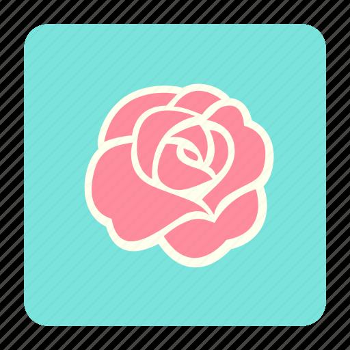 floral, flower, love, roses, valentine, wedding icon