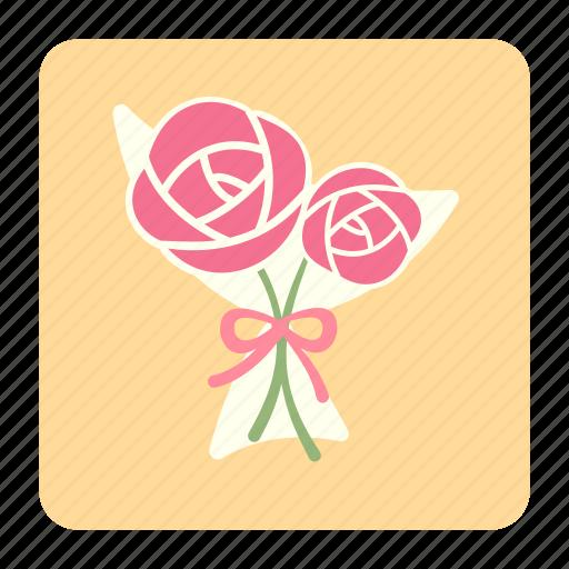 bouquet, floral, flower, flower bouquet, love, rose, valentines icon